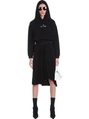 Balenciaga Sweatshirt In Black Cotton