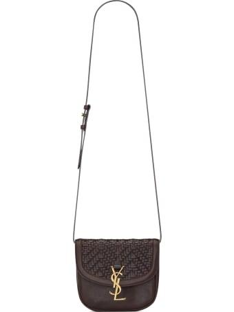 Saint Laurent Satchel Kaia Bag In Leather