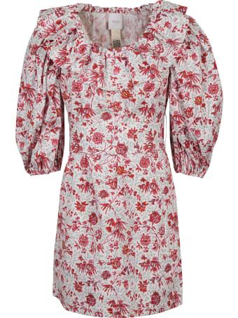 Patou Volume Sleeves Mini Dress