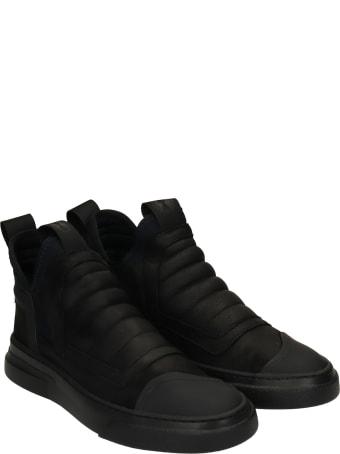 Bruno Bordese Damper Sneakers In Black Nubuck