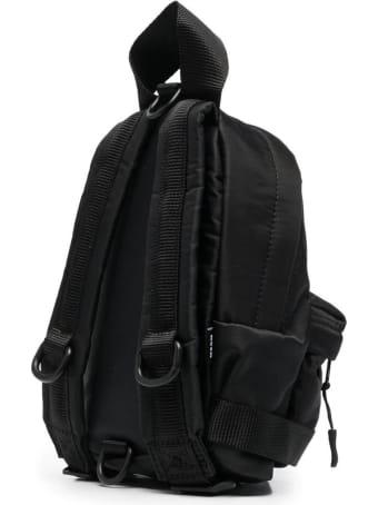 MSGM Black Nylon Backpack