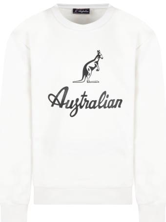 Australian White Sweatshirt For Boy With Logo