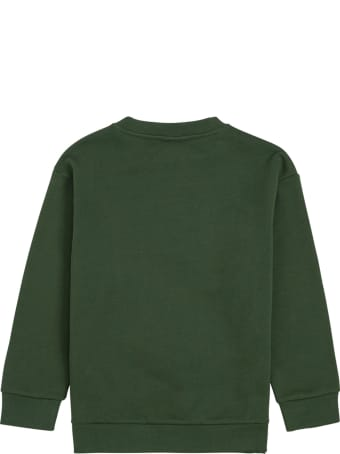 Fendi Green Cotton Sweatshirt With Logo