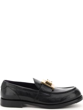 Dolce & Gabbana Loafers With Logo Plaque