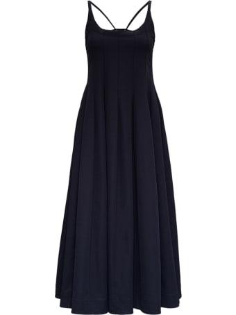 Jil Sander Black Flared Midi Dress
