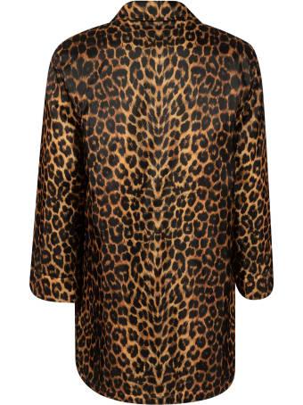 Saint Laurent Leopard Short-length Coat