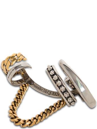 Alexander McQueen Single Earcuff Chain Skull Earring