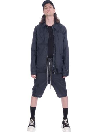 Rick Owens Casual Jacket In Black Polyamide