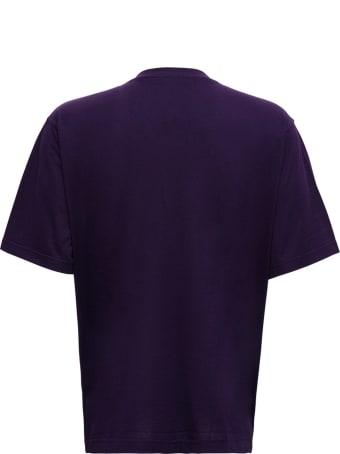 Dolce & Gabbana Purple Cotton T-shirt With Logo