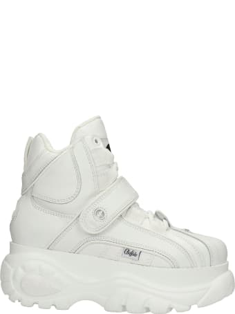 Buffalo 1348 Sneakers In White Leather