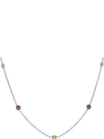 Lo Spazio Jewelry Lo Spazio Yellow, Pink Sapphire and Diamond Necklace