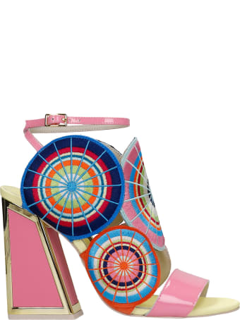 Kat Maconie Frida Sandals In Rose-pink Leather