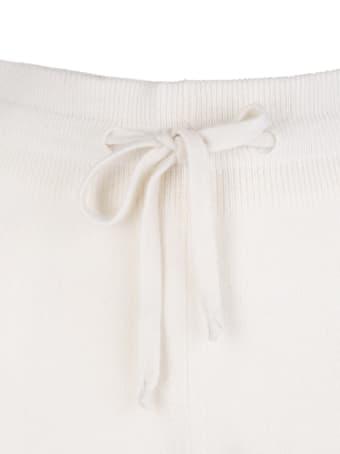 Fedeli Woman Slim Fit Joggers In White Cashmere