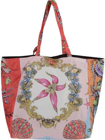 Versace Sea Shell Printed Shopper Bag