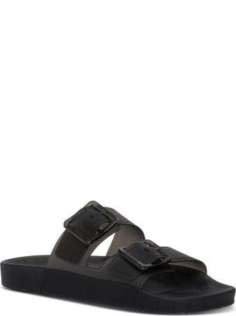 Balenciaga Mallorca Sandals In Black Technical Polyurethane