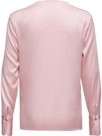 Antonelli Long-sleeved Shirt In Pink Silk