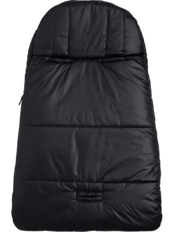 Emporio Armani Black  Nylon Padded Blanket  With Logo