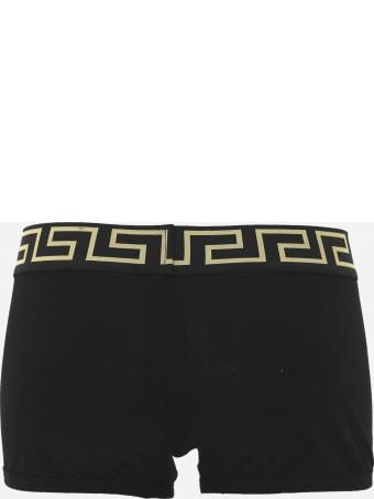 Versace Tri-pack Cotton Boxer With Greca Motif