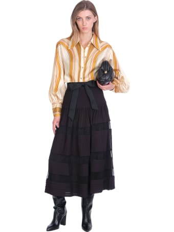 Zimmermann Skirt In Black Viscose