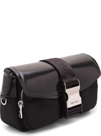 Prada 'pocket' Leather Shoulder Bag
