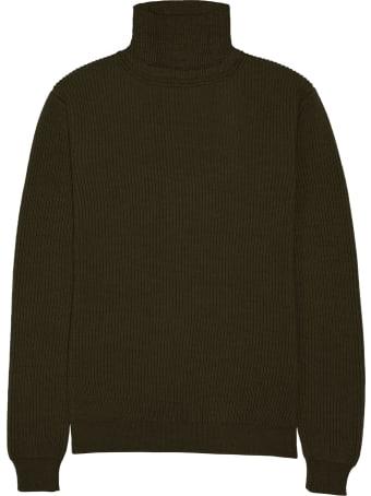 Altea Green Wool Turtleneck