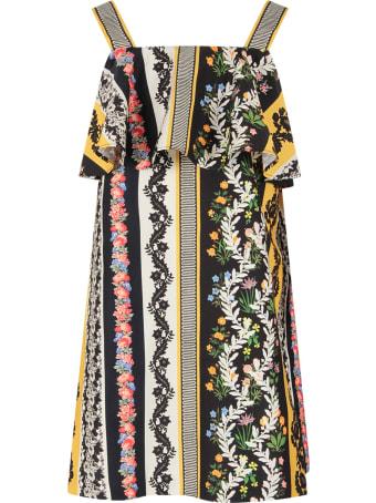 Oscar de la Renta Multicolor Striped Blouse For Girl