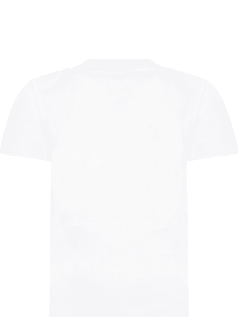 Givenchy White T-shirt For Kids With Logo