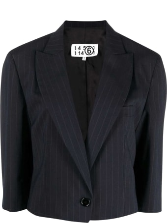MM6 Maison Margiela Pinstripe Crop Jacket