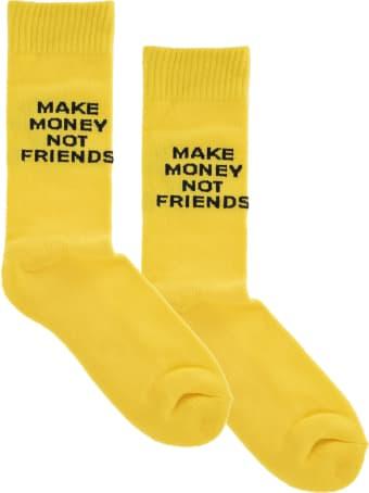 Make Money Not Friends Yellow Make Money Not Friends Socks