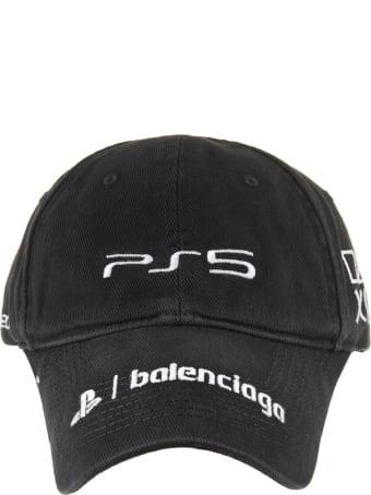 Balenciaga Man Black Playstation Baseball Cap