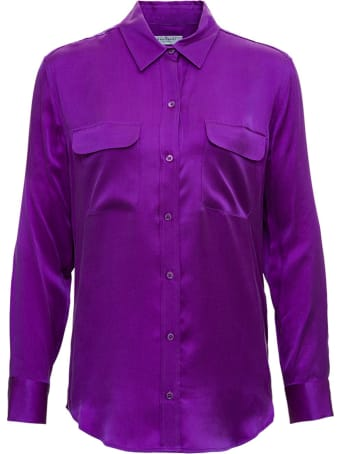 Equipment Purple Silk Shirt