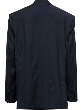 Balenciaga Black Single Breasted Wool Blazer