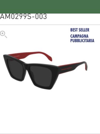 Alexander McQueen Alexander Mcqueen Am0299s Black Sunglasses