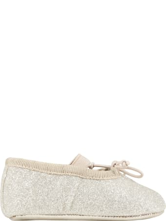 Gallucci Gold Ballet Flats For Baby Girl