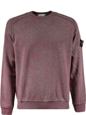 Stone Island Logo Sleeve Sweatshirt