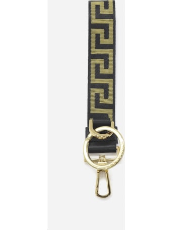 Versace Greca Keyring With All-over Contrasting Pattern