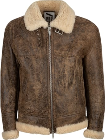 DRM Fur Applique Vintage Effect Jacket