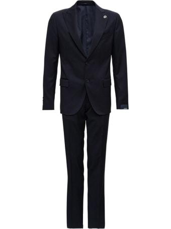 Lardini Blue Wool Tailored Suit