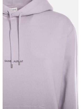 Saint Laurent Cotton Sweatshirt With Logo Print
