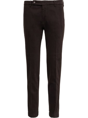 Berwich Brown Cotton Tailored Pants