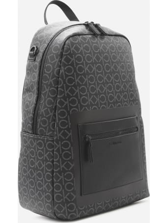 Calvin Klein Eco-leather Backpack With All-over Logo Print