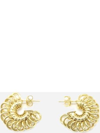 Bottega Veneta Silver Disc Hoop Earrings