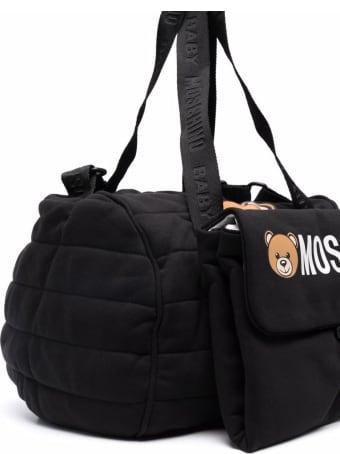 Moschino Black Cotton Teddy Bear Changing Bag