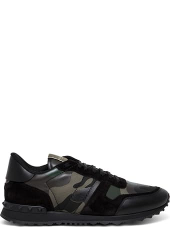 Valentino Garavani Rockrunner Camouflage Noir Sneakers