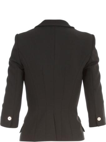 Elisabetta Franchi Double Breasted Short 3/4s Jacket