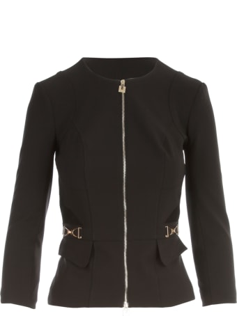 Elisabetta Franchi Crew Neck Zipped Jacket