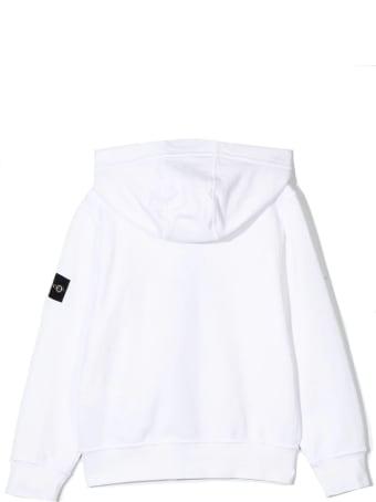 Stone Island White Cotton Hoodie