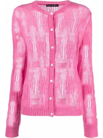 Marco Rambaldi Pink Alpaca Wool-mohair Blend Cardigan