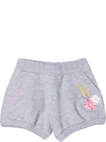 Monnalisa Grey Shorts With Application