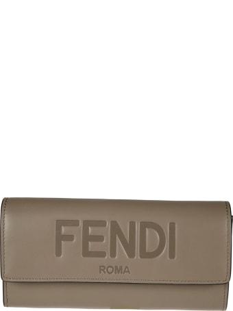 Fendi Engraved Logo Continental Wallet